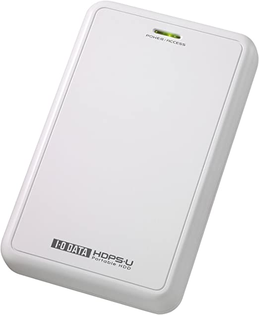 I-O DATA USB 2.0/1.1対応ポータブルハードディスク 500GB(ホワイト) HDPS-U500