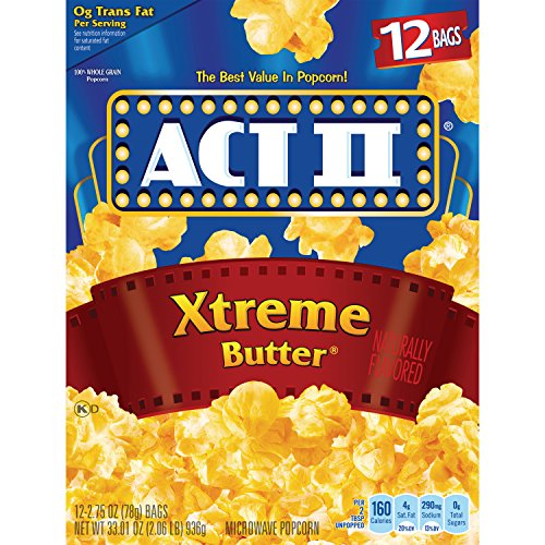 ACT II Xtreme Butter Microwave Popcorn, 12 ct, 33.01 oz
