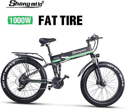 Shengmilo Bicicleta Eléctrica Plegable, Bicicleta de Montaña de 26 ...