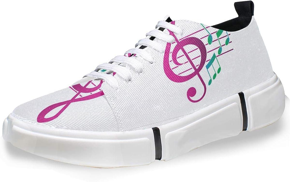 FANTAZIO - Zapatillas de Running para Hombre, diseño de Notas Musicales, Color Morado: Amazon.es: Zapatos y complementos