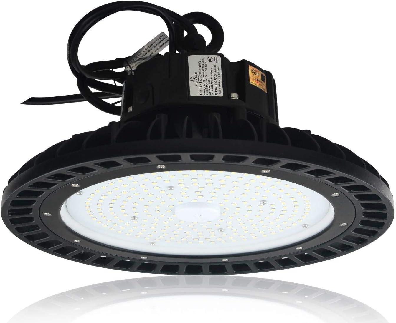 100 Watt Led Corvus Series High Bay Lighting 13 500 Lumens 2700k 3000k Warm White Ufo Led Light Warehouse Led Lights High Bay Led Lighting Dlc Premium Listed 3000k