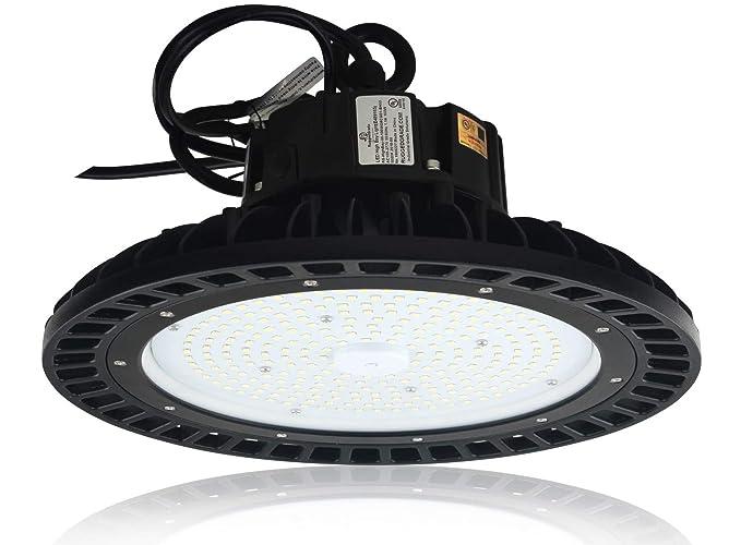 13 500 Lumen 100 Watt Corvus Series Led High Bay Dlc Premium Listed 5000k Led High Bay Lighting Ufo Led Light Ultra Efficient 135 Lumens To