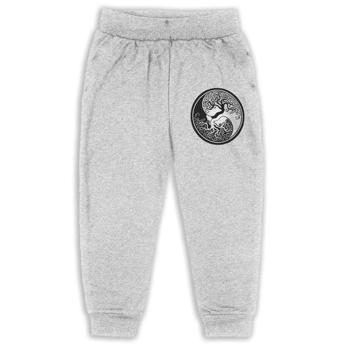 Tree of Life Yin Yang Kids Cotton Sweatpants,Jogger Long Jersey Sweatpants