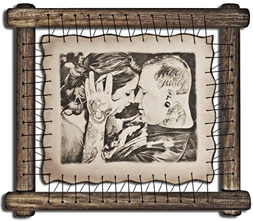 6th Wedding Anniversary Gifts For Men Iron Marriage Ideas For Husband 6 Year Anniversary Gift For Her Sixth Wedding Anniversary Gifts Six Yr - RARE Hand Drawn Pyrography Technique (Ideas Gift Year Anniversary 6)