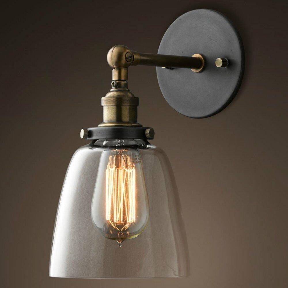 Rétro Vintage Industrielle Applique Eclairage Lampe Luminaire Mural Abat-jour
