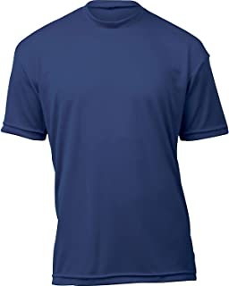 product image for WSI Microtech Loose Short Sleeve Shirt, Navy, Youth Large