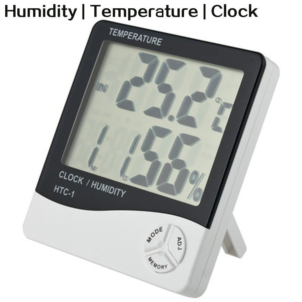 LCD Digital Display Temperature and Humidity Meter with Alarm Clock Hygrometer LuckyStone HCT-1
