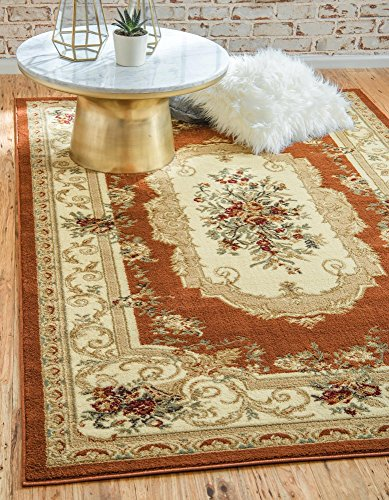 (Unique Loom Versailles Collection Traditional Classic Brick Red Area Rug (7' 0 x 10' 0))
