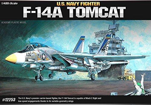 Tomcat F-14a Fighter - Academy Plastic Model kit 1/48 F-14A Tomcat US Navy Fighter #12253 /ITEM#G839GJ UY-W8EHF3188832