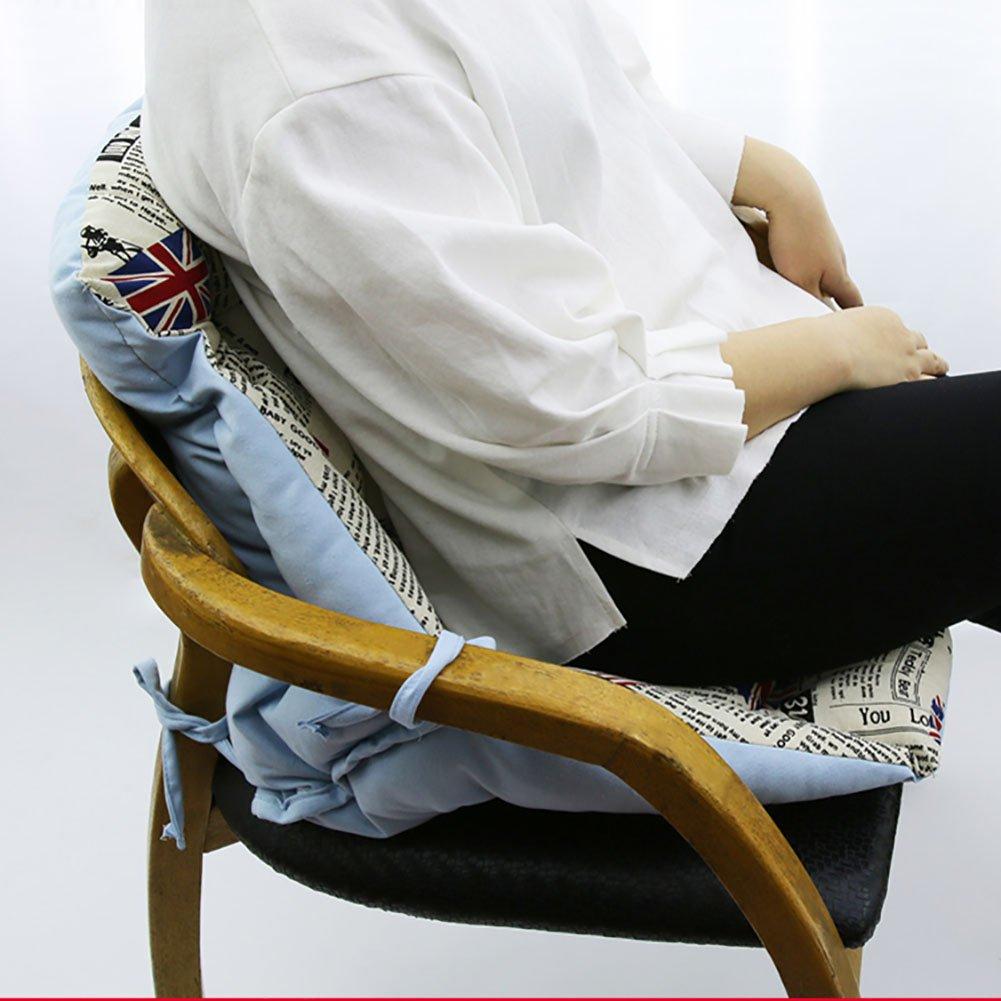 LJ&XJ Casa Ocio Ocio Ocio Cojín del Asiento, Dormitorio Oficina Gruesas Almohadillas para sillas, Algodón Lino Respirable Cómodo Color sólido Asiento-E b8157f