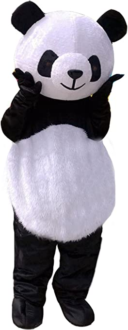 Details about  /Panda Mascot Costume Cosplay Party Dress Outfit Advertising Halloween Adult #C
