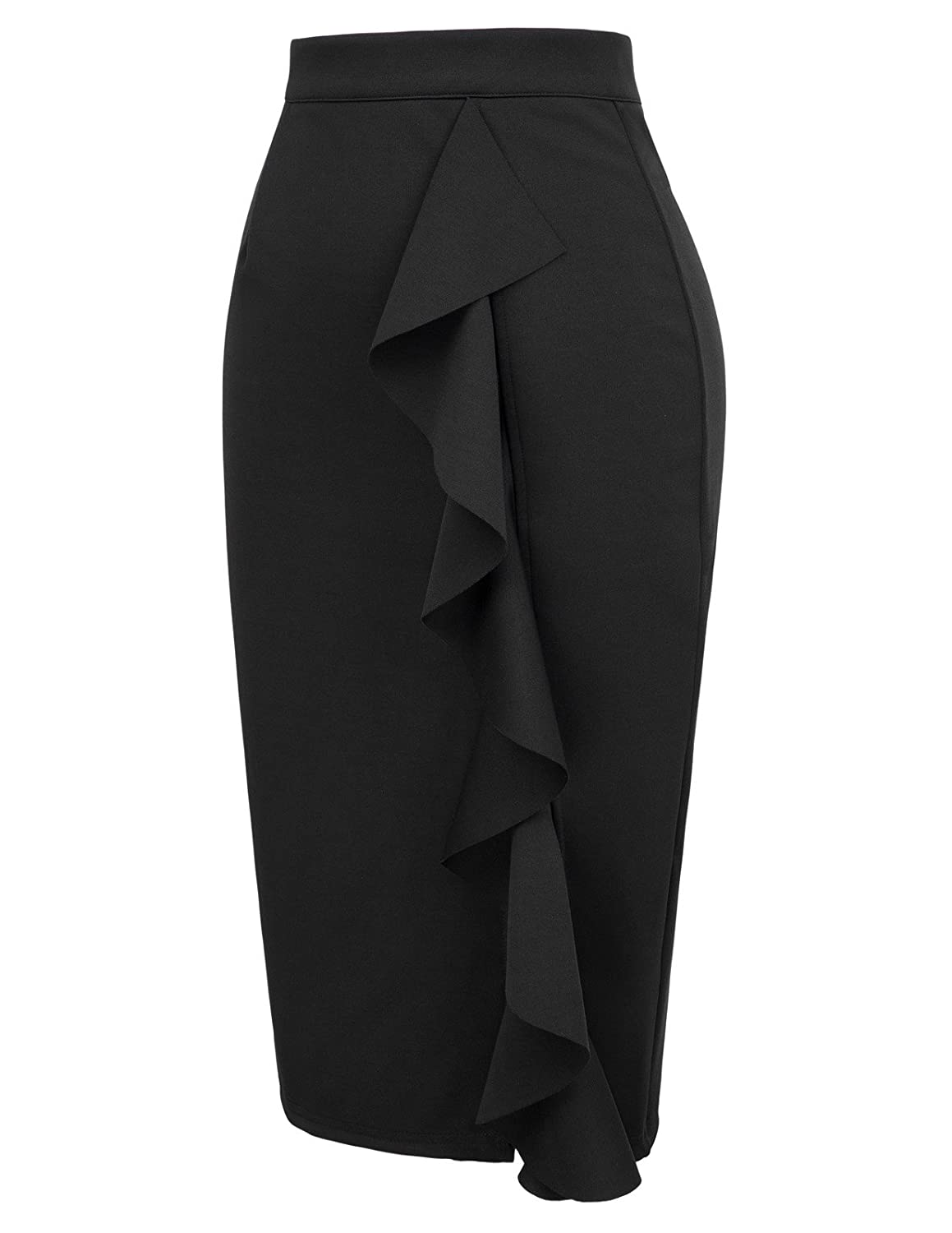 9ff5af11d0 GRACE KARIN Women's Ruffle Office Wear Slim Fit Vintage Pencil Skirt at  Amazon Women's Clothing store: