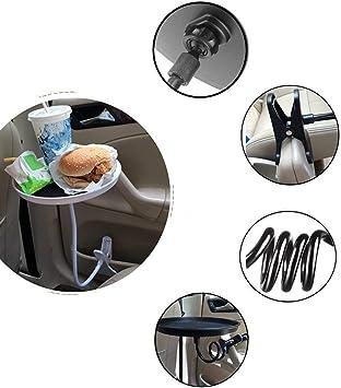 Auto Fahrzeug Swivel Runden Tisch Essen Trinken Tasse Kaffee Halter Tablett Organizer Halter Tragbare Reise Stehen Essen Tablett Auto