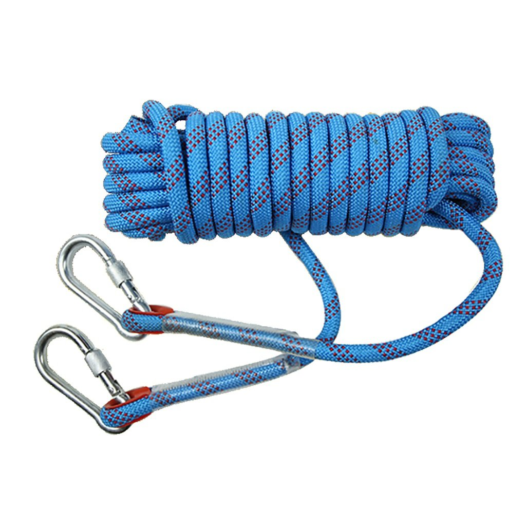 Rock Climbing Rope,Blue 10M, 20M, 50M, 100M,Climbing Rope,Diameter 8mm/10mm Outdoor Explore Escape Rescue Rope,High Strength Nylon Rope Safety Rope (Color : Diameter-12mm, Size : 10M)