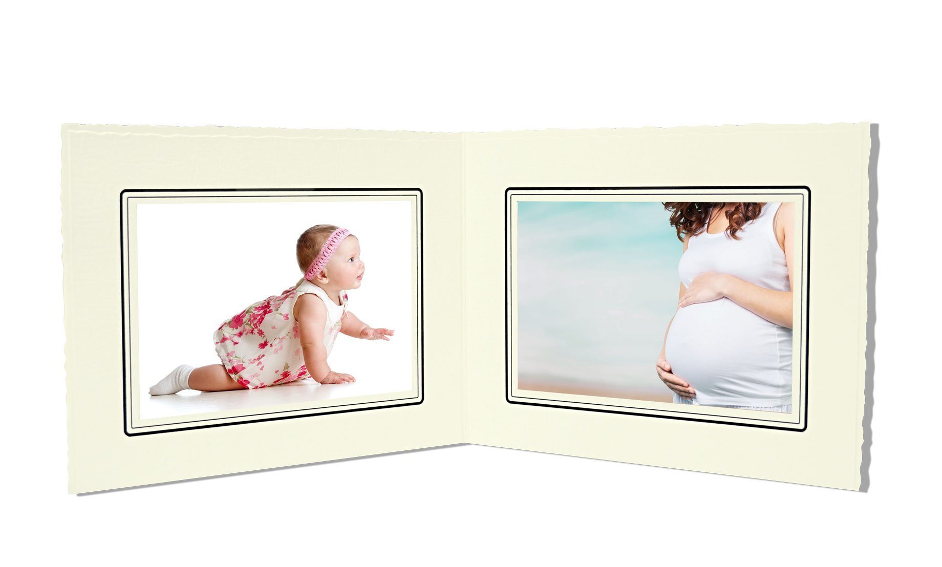 Golden State Art, Cardboard Photo Folder For Double 4x6 Photo (Pack of 50) GS003 Ivory Color by Golden State Art