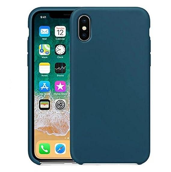 cheap for discount 7c9ef b8b0e Amazon.com: iPhone X Case, HONTECH Ultra Thin Liquid Silicone Gel ...