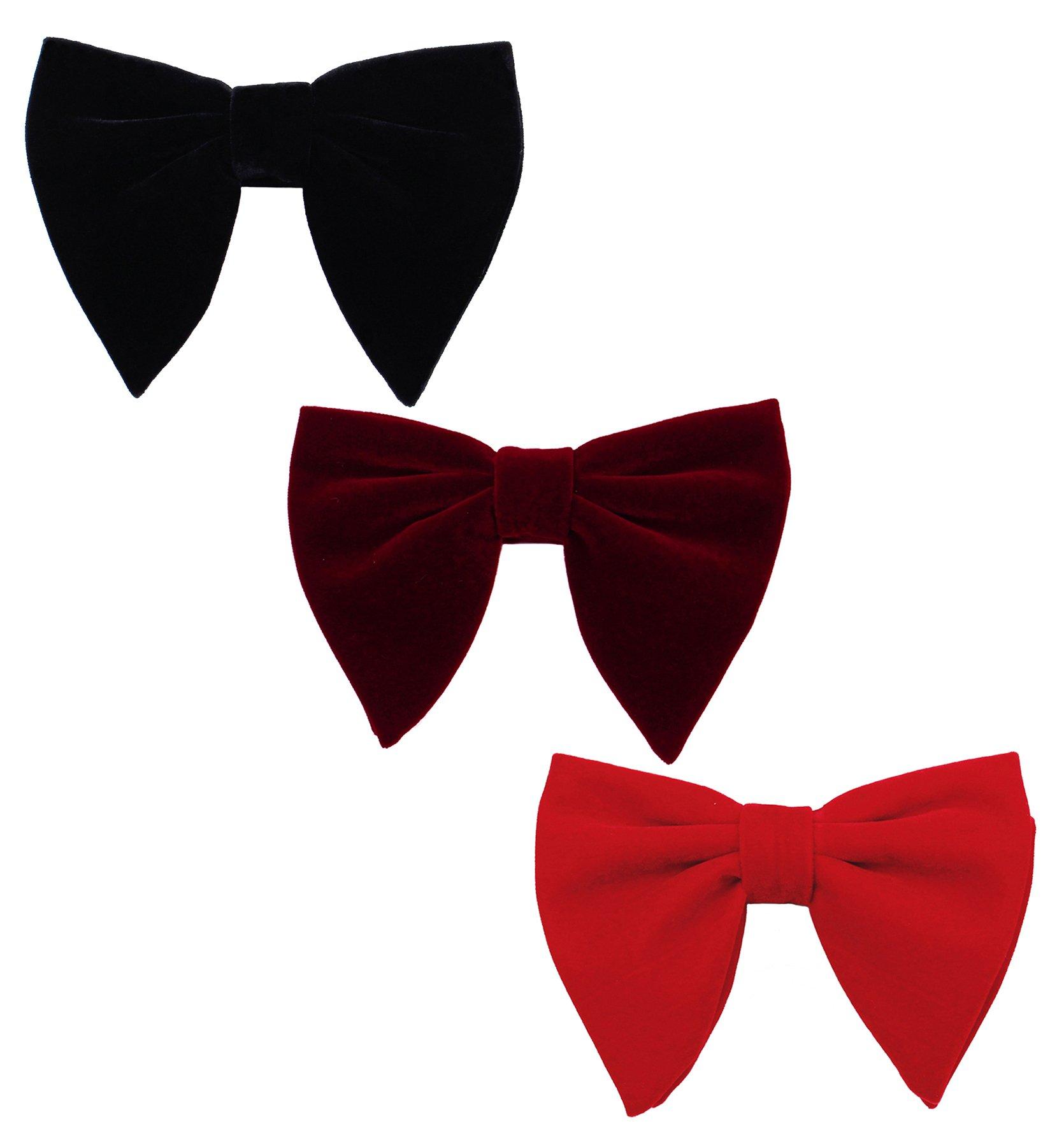 Levao Men's Velvet Vintage Bow Tie Tuxedo Big Bowtie RB002-Mix3 D,F,G