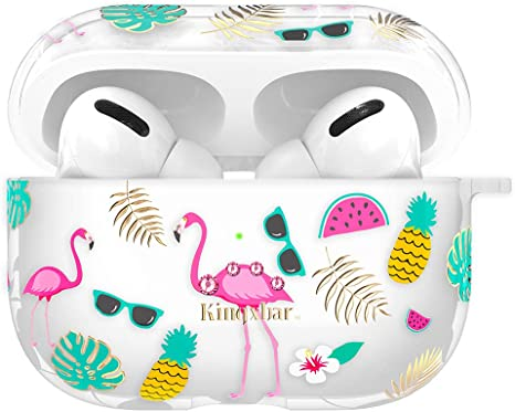 Amazon Com Kingxbar 3 In 1 Airpods Pro Case Cute Protective Skin