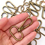 "15 Pcs 3/4"" or 1"" Inside Diameter Oval Ring Lobster Clasp Claw Swivel for Strap Push Gate Lobster Clasps Hooks Swivel…"
