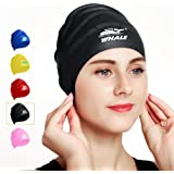 Cover Ears Swim Caps for Long Hair 100% Silicone Swimming Hat for Unisex Adult KIds Reduce Water Intake Makes Your Hair Clean