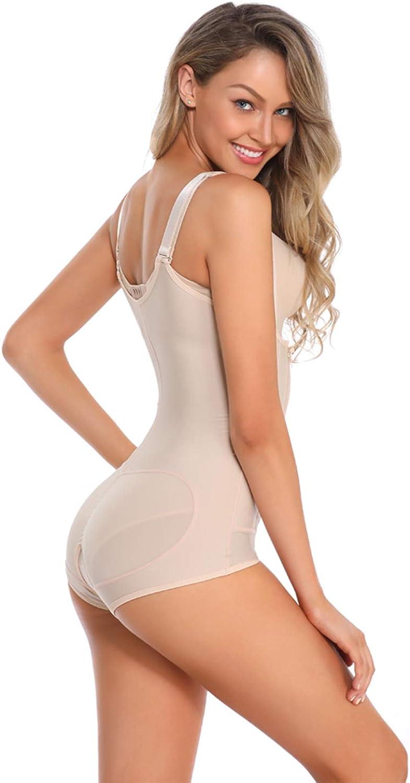Shymay Womens Full Body Girdle Compression Clip/&Zip Tummy Control Body Shapewear