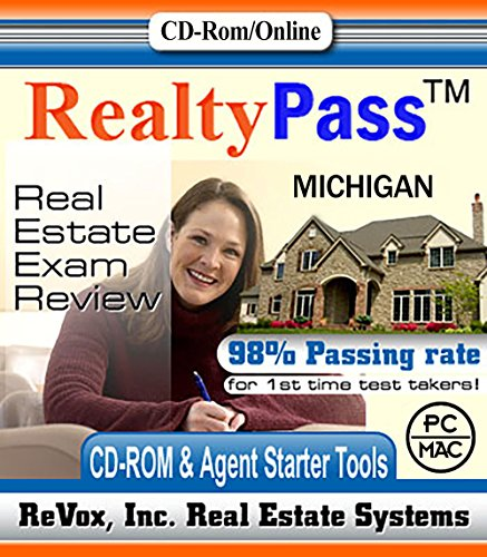 2018 Michigan PSI Realty Pass Real Estate Exam Prep Study Guide Questions and Answers Interactive Software