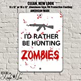 Hunting Zombies Decor, Zombie Wall Art, Zombies, Gift for Gamers, Gaming Decor, Metal Wall Art, Metal Signs, Home Decor Game Room Sign