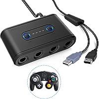 GameCube kontrolladapter, Wii U och PC USB med 4-portar – Plug & Play, inga drivrutiner behövs (Nintendo Wii U/PC DVD…
