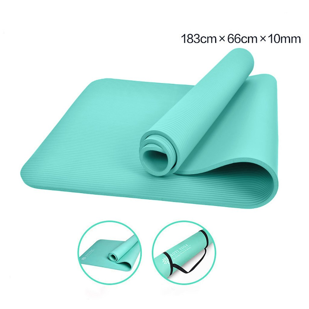 AJZGF Yogamatten, 183cmX60cmX10mm Yogamatten, verlängerte Fitnessmatten, Fitnessmatten, Yogamatten Tanz-Fitnessmatte