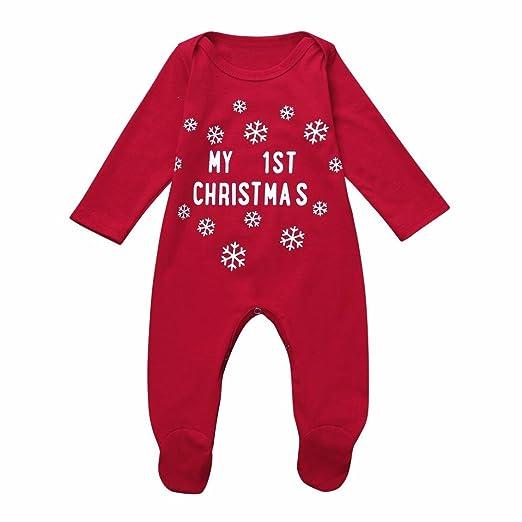 Winsummer Newborn Baby Boy Girl Cotton Letter Footie Romper Bodysuit Outfit  Christmas Clothes (Red, - Amazon.com: Winsummer Newborn Baby Boy Girl Cotton Letter Footie
