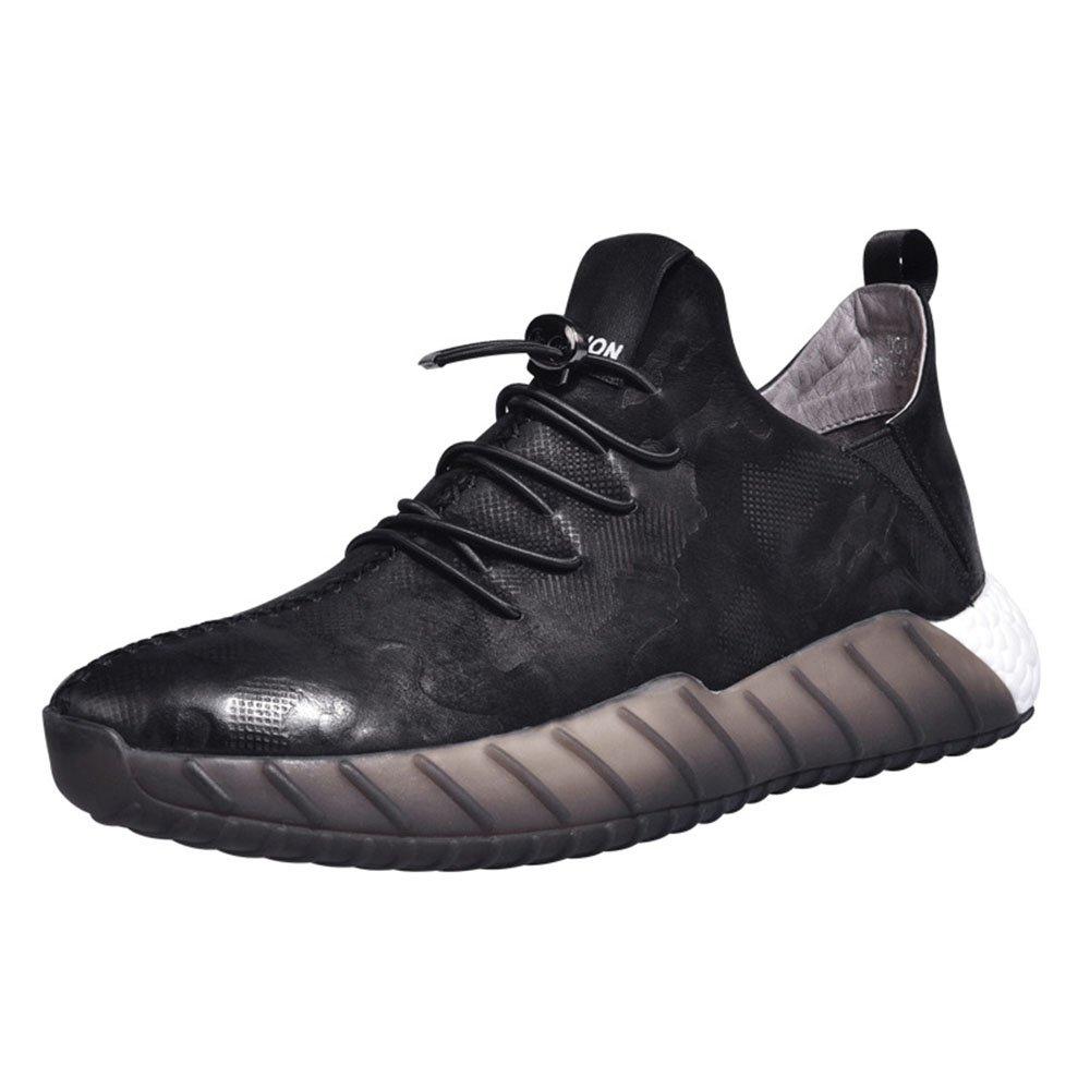 FLYMD Running Shoes Zapatos Deportivos, Zapatos Casuales de Primavera, Zapatos Perezosos de Estilo británico (24.0-27.0cm) Sneakers for Men (Color : Negro, tamaño : 38 2/3 EU) 38 2/3 EU|Negro