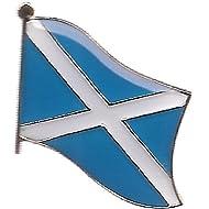 Pack of 3 Scotland Cross Single Flag Lapel Pins, Scottish Cross Pin Badge