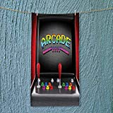 SOCOMIMI Swimmer Towel Arcade Machine Retro Gaming Fun Joystick Buttons Vintage 80s 90s Electronic Multicolor Moisture Wicking