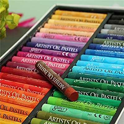 CoCocina 50 Colors Crayon Non-toxic Oil Pastels Drawing Pens Artists Mechanical Drawing Paint