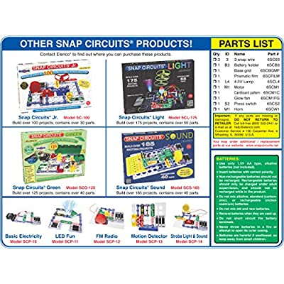 Snap Circuits Electronics Flying Saucer Plus Mini Kit | Build UFO Launcher with Snap-Together Electronic Components | 10 Projects | Electronics Exploration Kit | Great STEM Product: Toys & Games