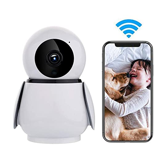 LEEFISH WiFi Mascota Cámara IP, Inalámbrico 1080P FHD Monitor ...