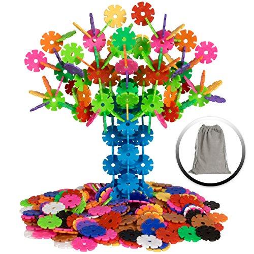 Best Choice Products 360-Piece Kids Educational STEM Toy Plastic Building Block Discs Set w/ Carrying Bag - Multicolor by Best Choice Products