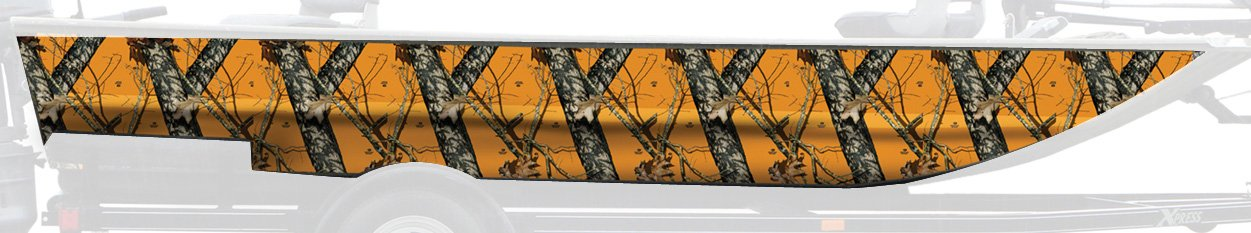 Mossy Oak Graphics 10004-18-BZ Blaze 18 x 18 Pieces Boat Sides Camouflage Kit with 2-Piece Camouflage Vinyl