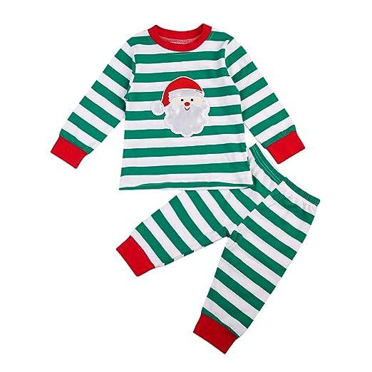 2a2164b3a233 Amazon.com  ITFABS 2pcs Baby Boy Girl Pajamas Cute Sleeper Christmas ...