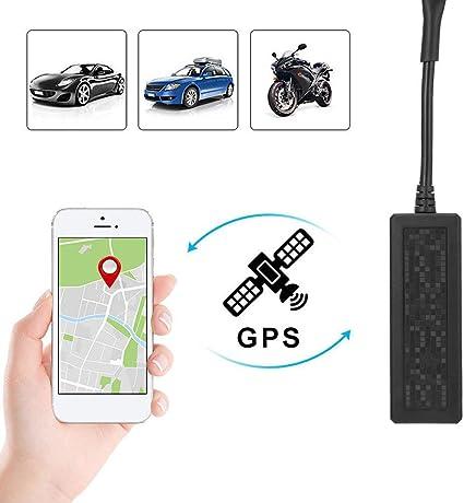 zhenyao - rastreador GPS antirrobo para coche con dispositivo de rastreador de vehículos, rastreador de bicicleta, localizador en tiempo real GPS/GSM/GPRS/SMS rastreador para coche Google Maps Link libre Android / iOS APP: