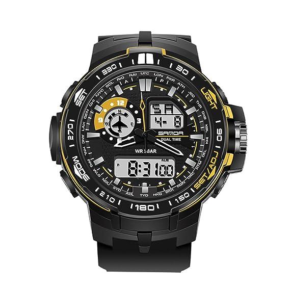 Jóvenes deportes reloj/Resistente al agua relojes digitales estudiante/ moda digital-C: Amazon.es: Relojes