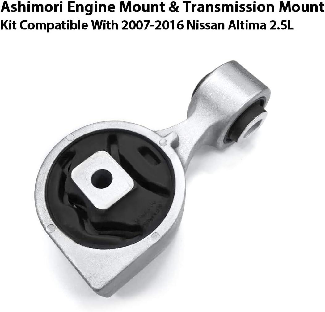 Ashimori Compatible With 2007-2016 Nissan Altima 2.5L Torque Strut RH Right Passenger Side Engine Transmission Mount Set A4350