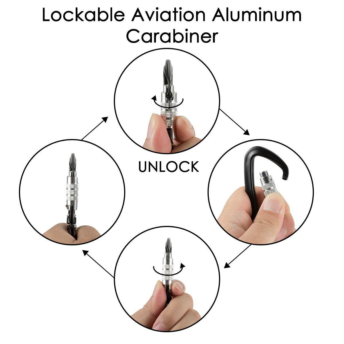 Slowton Dog Seatbelt Pet Car Seat Belt Latch Bar Attachment Chair Wire Harness Lockable Swivel Carabiner For Small Medium