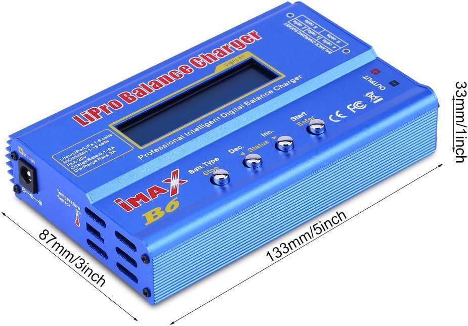 15V 6A Adapter Zouminy RC 80W 1-6S Balance Ladeger/ät Entlader f/ür Lipo Akku EU