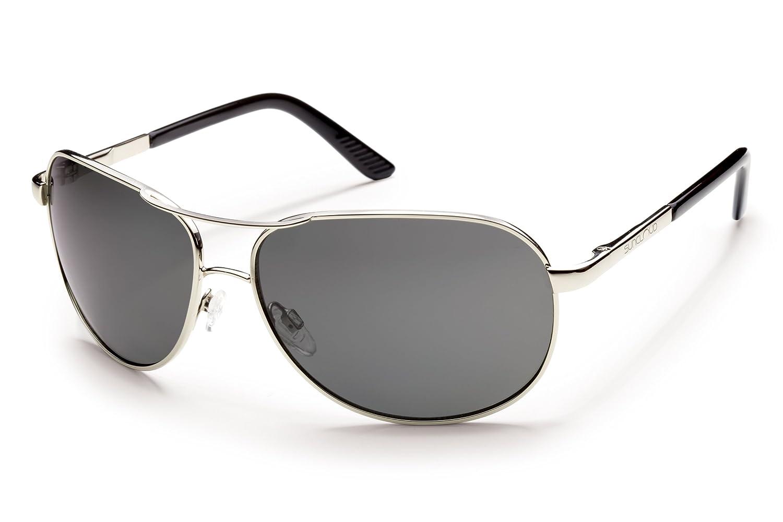 73b3aeb7b01 Amazon.com  Suncloud Aviator Polarized Metal Sunglasses in Gold   Brown   Clothing