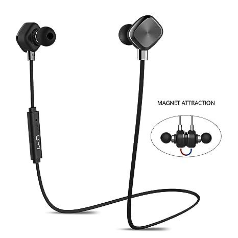 UMi Auricolare Wireless Cuffie Bluetooth Magnetiche Auricolari In Ear Senza  Fili Impermeabile IPX6 Protezione Liquidi Con 78326217a7df