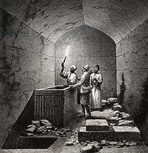 Tomb Chamber of Menk Aura (453300), lino, 50 x 50 cm