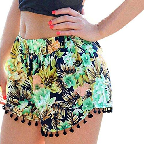 DDLBiz Sexy Hot Pants Summer Casual Shorts High Waist Short Beach (Aztec Printed Shorts)