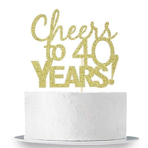 Innoru - Decoración para tarta con purpurina dorada para 40 ...