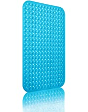 ORSJA Silicone Shower Mat Non Slip, Machine Washable Not Deformed, Bath Mat Antibacterial & Mildew Resistant &Eco Friendly No Odor Bathroom Mat,Thickened Bathtub Mat with Suction Cups